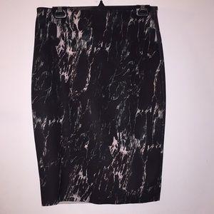 Marble knit skirt